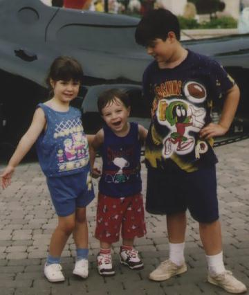 The kids at Six Flags in Chicago, July 1995